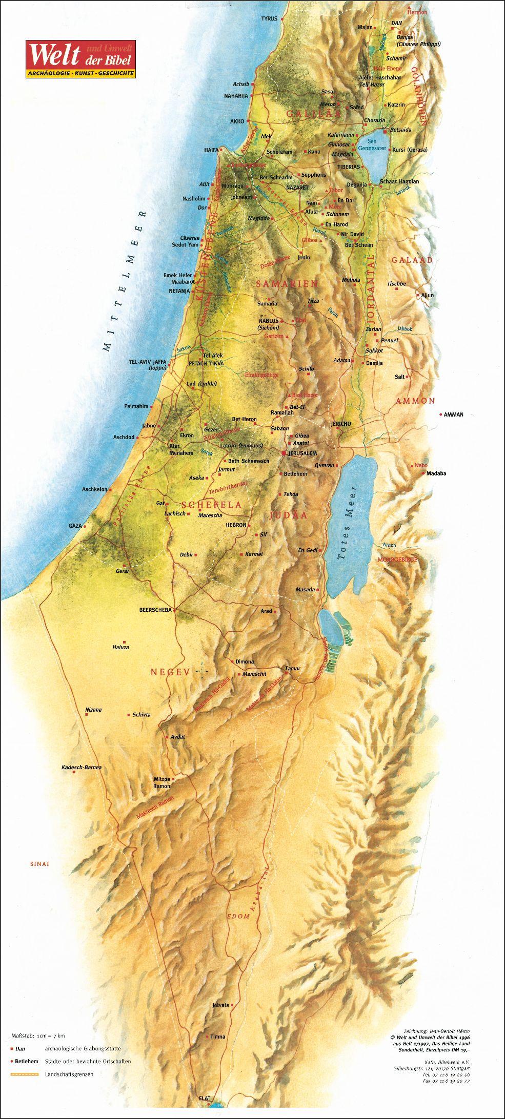 Israel bibel landkarte BIBLE VERSES