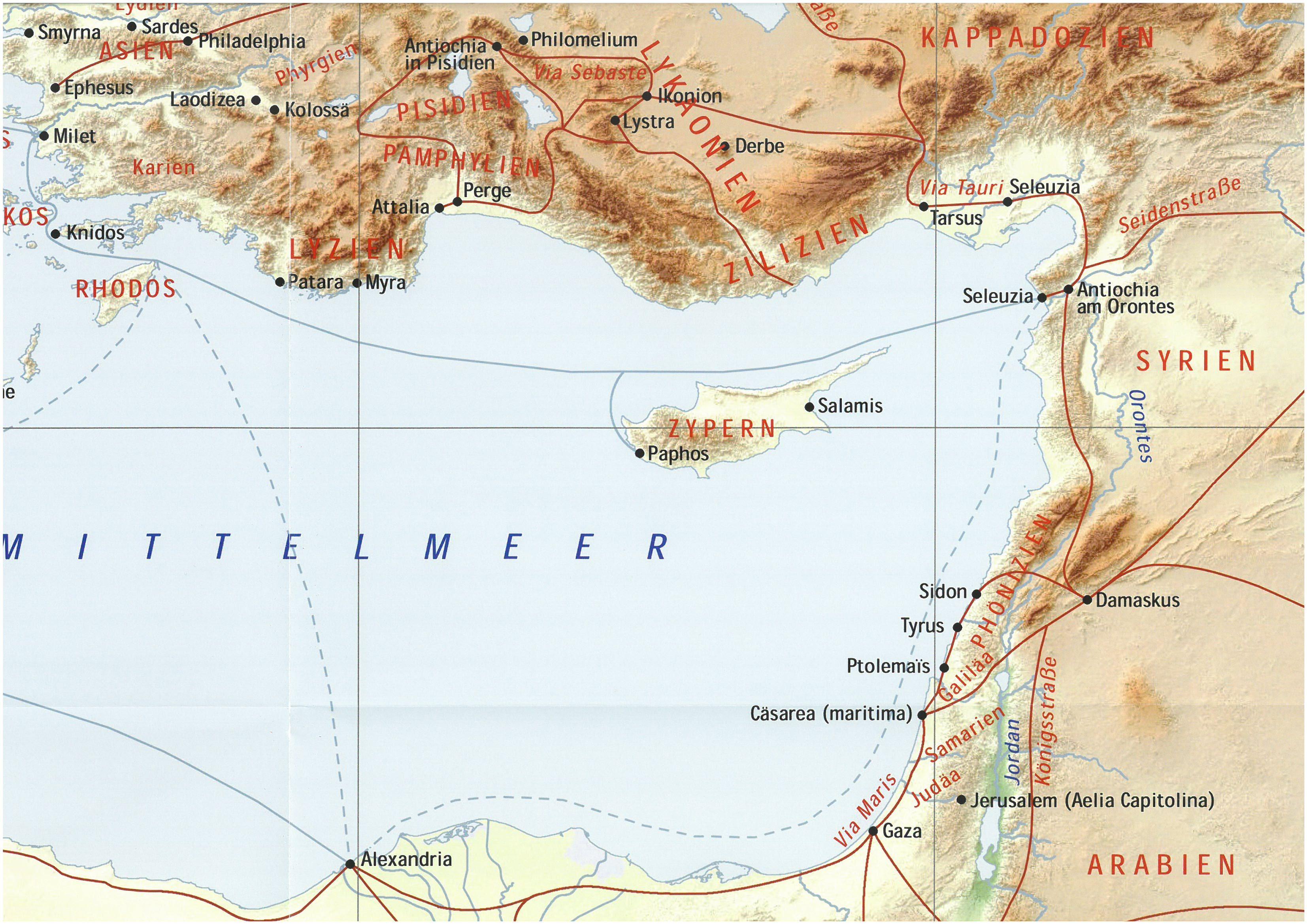Jerusalem Karte Welt.Bibelatlas Landkarten Israel Wandkarten Israel