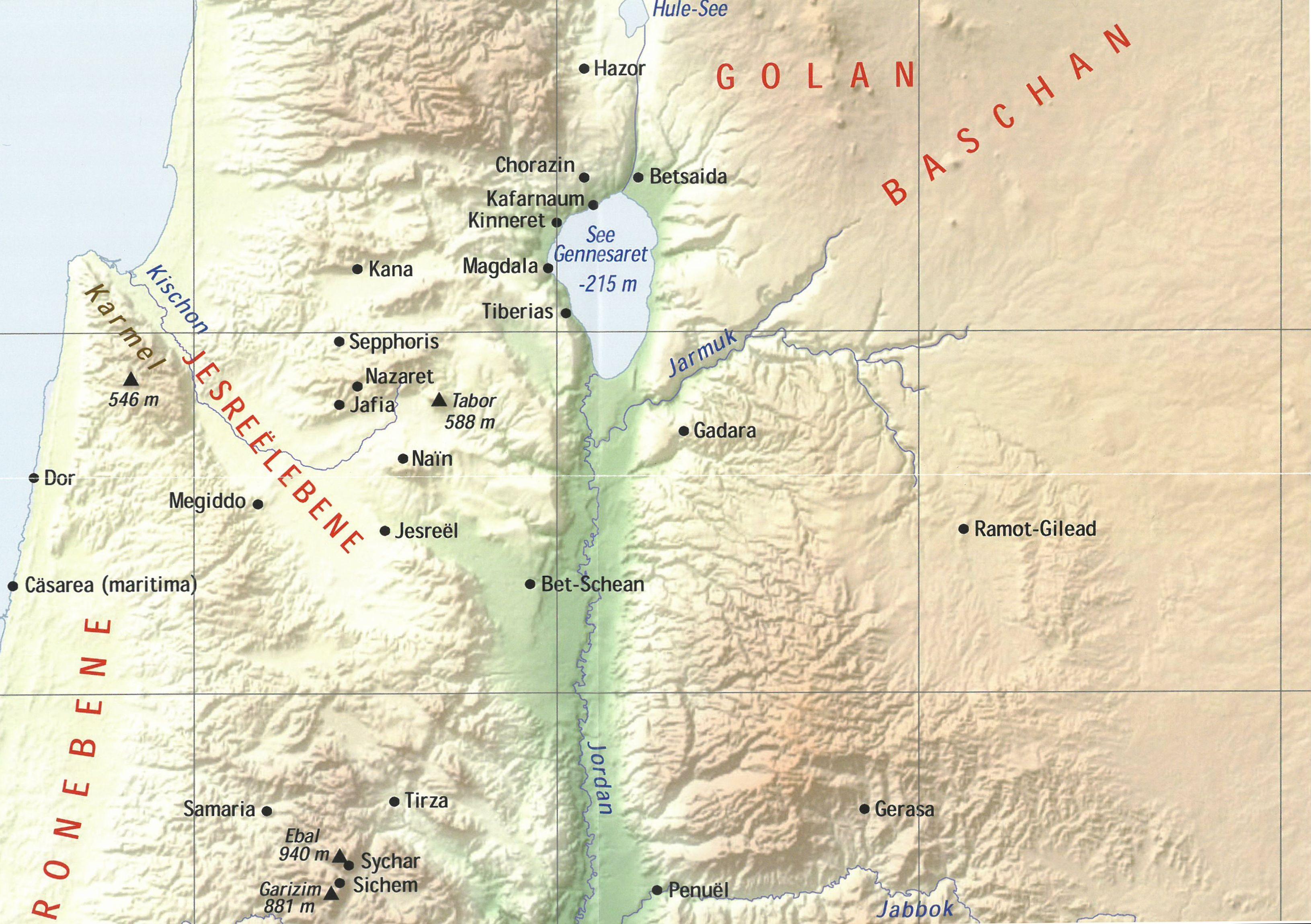 Bibelatlas Landkarten Israel Wandkarten Israel Buchhandlung